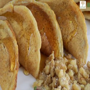 Whole grain Sugar-Free Qatayef (Ramadan Pancakes)