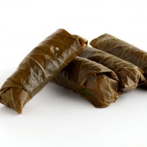 Sprouted Quinoa, and Sprouted Sesame Brown Rice Stuffed Grape Leaves