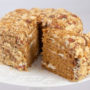 Cake with (Whole Grain Flour + Organic Eggs + Talbeenah)