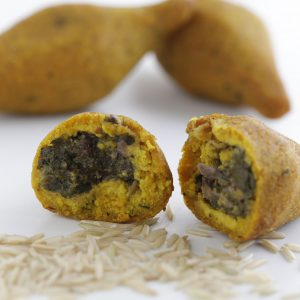 Gluten-Free Kibbah (Brown rice and Potato) stuffed with